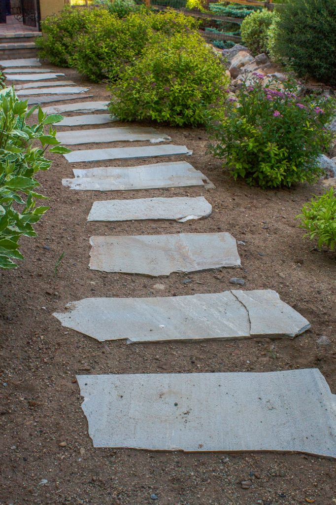 Flagstone Walkways Paths : Paver or flagstone walkways nvision landscaping llc