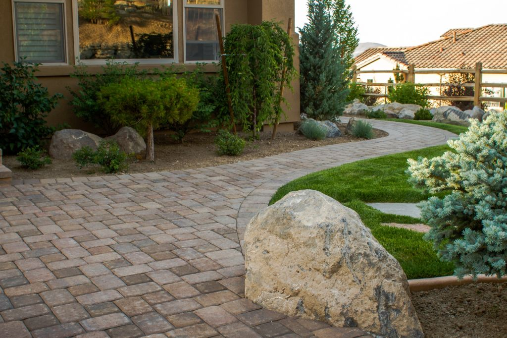 Decorative Boulders For Landscaping : Decorative boulder placement nvision landscaping llc