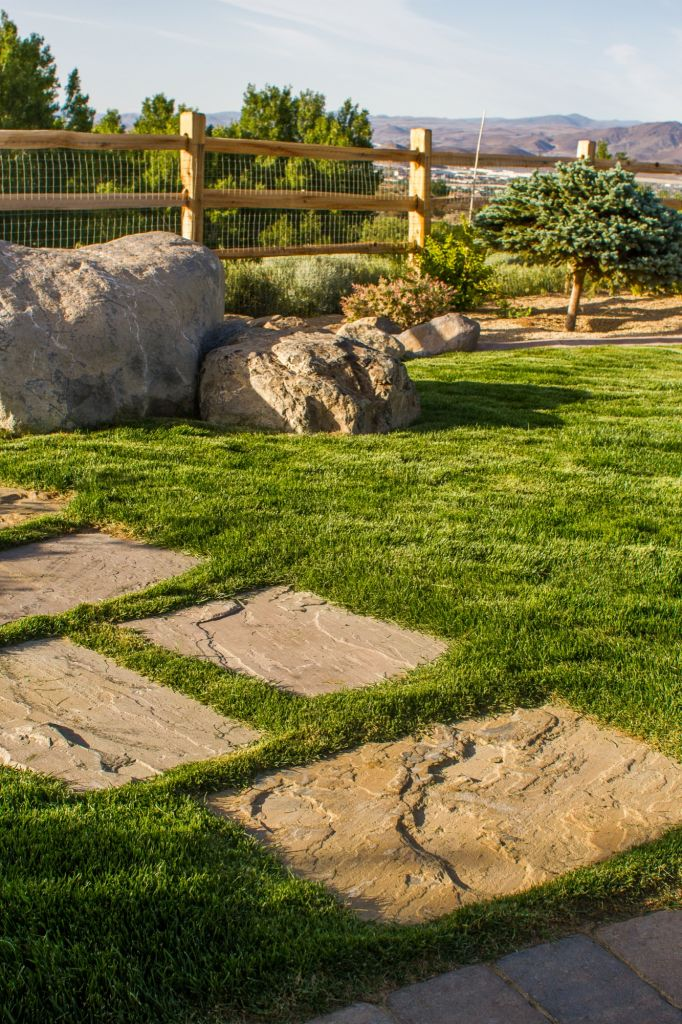 Landscape Boulders Reno Nv : Paver or flagstone walkways nvision landscaping llc