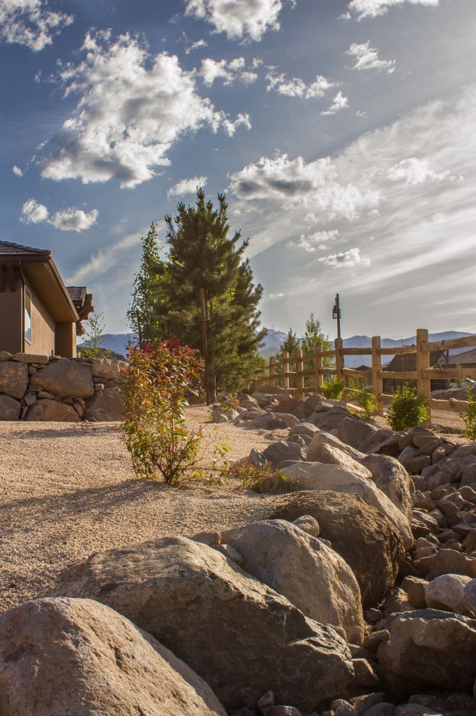 Landscape Boulders Reno Nv : Drainage irrigation installation nvision landscaping llc