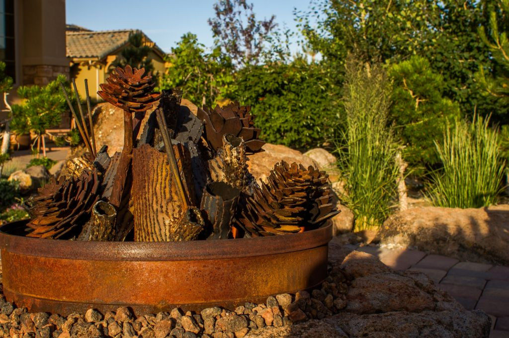 Landscape Boulders Reno Nv : Fire features or pits nvision landscaping llc